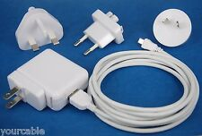 AC Wall Charger +2M USB cable WHITE for Samsung Galaxy Tab 4 3 10.1 8.0 7.0 Kids