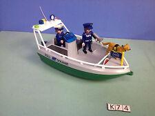 (K74) playmobil bateau douanier série portuaire ref 4471 4472 4470