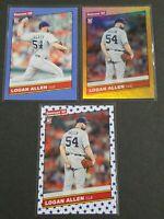 2020 Logan Allen RC Lot: Donruss Stars, 1986 & 1986 Orange Holo Mint Condition!