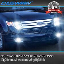 For Ford Edge 2007-2010 -LED Headlight Fog Light Bulbs Kit 8x Car Led Light