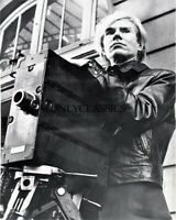 1973 ANDY WARHOL BEHIND MOVIE CAMERA ICONIC PORTRAIT 8X10 PHOTO ARTIST DIRECTOR