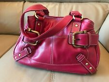 'TOMMY & KATE' RED LEATHER HANDBAG