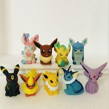 9pcs Eevee Evolution Pokemon Nintendo Bandai Toy Figures Set Umbreon Espeon c