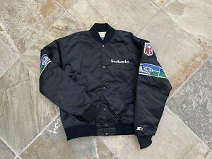 Vintage Seattle Seahawks Starter Satin Football Jacket, Size Medium