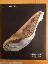 NOS IDEALE Leather Saddle Catalog 11pg c1936 Tron & Berthet ELAEDY NORTEX 57 pic