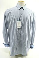 Robert Graham Kayenta NWT $168 Men's Dress Shirt Sz 2XL Tailored Fit White Blue