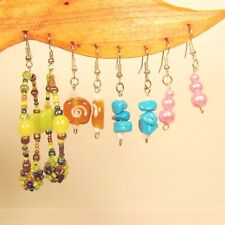 Wholesale Lot 20 PCS Assorted Styles & Colors Handmade Beaded Dangle Earrings