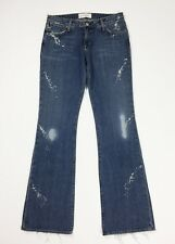 Paper denim & cloth jeans donna W30 tg 44 new zampa bootcut destroyed blu T4277