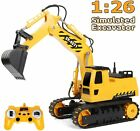 DOUBLE E Remote Control Excavator Toy Truck 1/26 with Rechargeable Battery