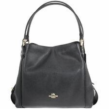 Coach Edie 31 Black Pebbled Leather Shoulder Bag 57125