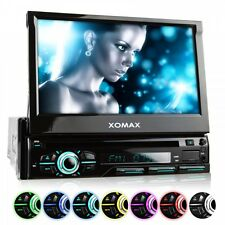AUTORADIO CON BLUETOOTH 18cm TOUCHSCREEN DVD/CD-PLAYER USB SD MP3 SINGOLO 1DIN