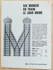 Publicité papier SNCB Iva Munich Juillet 1965 P1010730