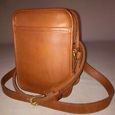 *MINT* COACH FULL GRAIN LEATHER CLASSIC UNISEX CAMERA BAG COGNAC MADE IN THE USA