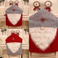 2019 Christmas Santa Hat Dining Chair Back Covers Party Xmas Table Decoration Bs