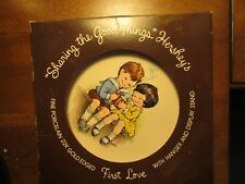 "Vintage Hershey's Porcelain Plate/Stand Sharing the good things 7""First Love"