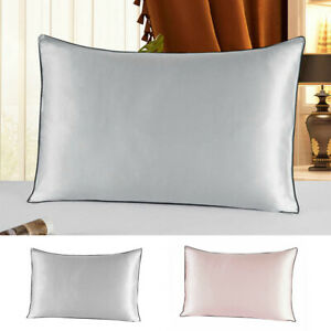 Soft 100% Mulberry Pure Silk Pillowcase Covers Cushion Pillow Cases Standard