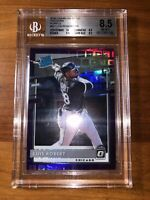 2020 Donruss Optic LUIS ROBERT FOTL PANDORA PURPLE PRIZM 70/99 Rated Rookie BGS