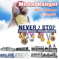 Metal Steel Sport Medal Holder Hanger Display Rack Ideal Gift Running Thick 1.6m