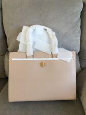 NWT Tory Burch Leather Large KIRA Tote Handbag $598 perfect Sand