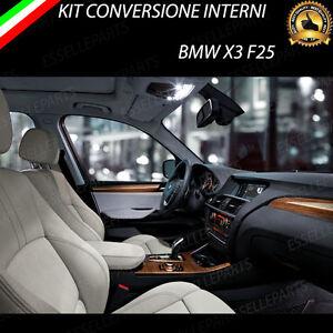 KIT FULL LED INTERNI BMW X3 F25 CONVERSIONE COMPLETA ULTRALUMINOSI 6000K