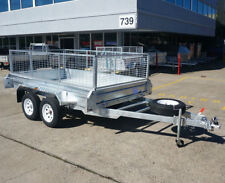 8x5 10x5 10x6 Tandem Box Trailer Dual Axle Trailer Electric Brakes Brisbane QLD