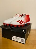 NEW Adidas Icon 4 Md K White/Scarlet Red Boys Baseball Cleats Size 5.5 G26696