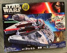 Star Wars Hasbro Millennium Falcon Sealed MIB THE FORCE AWAKENS W/ Figures