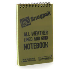 Snugpak Military Army Cadet Scouts Camping EDC Water Resistant Notebook Green