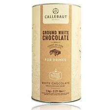Callebaut - Ground White Chocolate, weiße Trinkschokolade Trinkkakao 1 kg