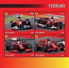 Gambia- 2012 Ferrari Stamps- Sheetlet Of 4