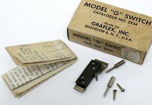 "GRAFLEX SWITCH #2234 Model ""G"" Switch New Old Stock"
