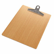 1 PCS Wooden A4 File Paper Clip Wood Writing Board Document Clipboard