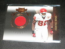 DWAYNE BOWE GENUINE CERTIFIED AUTHENTIC EVENT WORN FOOTBALL JERSEY CARD /299
