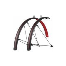 SKS Bluemels Stingray Bicycle Fender Set // 700c // 45mm // Red/Black