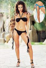 Dreamgirl Lingerie 3914 Halter Neck Bra & Thong Womens Underwear Black Sz Large