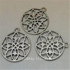 12pc Tibetan Silver flower Charm Bead Pendant Jewellery Making Findings PL838