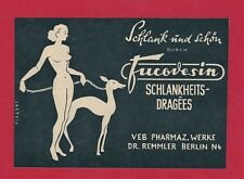 9/520 WERBUNG AUS EINER DDR ZEITSCHRIFT DR. REMMLER BERLIN SCHLANKHEITSDRAGEES