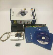 Sony Cyber-shot DSC-W120 7.2MP Silver Digital Camera Full HD 1080 Bundle TESTED