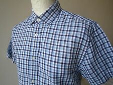 MEN'S JAEGER of LONDON LINEN BLEND SHIRT  M  *MINT* gingham checked summer top t