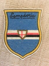 U.C. SAMPDORIA CALCIO ANNI '50 STEMMA IN STOFFA PATCH SCRITTA STAMPATELLO - RARO