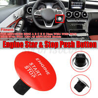 Red Keyless Go Engine Start Stop Push Button Switch For Mercedes-Benz