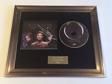 PERSONALLY SIGNED/AUTOGRAPHED NICO VEGA - LEAD TO LIGHT FRAMED CD PRESENTATION.