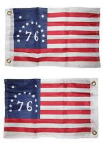 12x18 Bennington 76 1776 2 Faced 2-ply Nylon Wind Resistant Flag 12x18 Inch