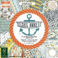 DOVECRAFT SAIL AWAY PREMIUM PAPERS 6 X 6 SAMPLE PACK -  16 SHEETS