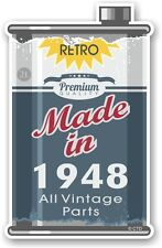 Aged Metal Tin Oil Can MADE IN 1948 Retro Novelty Ratlook Motorcycle car sticker