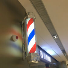 Barber Shop Pole Red White Blue Rotating Light Sign Hair Salon Suitable 28 Inch