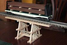 "O handmade wood gully trestle 12 1/2"" long 4 5/8"" high for Lionel MTH,Atlas etc."