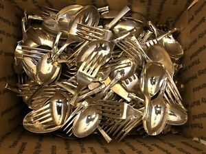 Scrap Flatware Silver-plated Lot - 15 Pounds