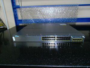 Cisco Catalyst WS-C3750X-24P-L 24 Port Gig Switch 1 X PSU C3KX-NM-1G Module