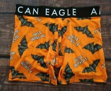 MENS AMERICAN EAGLE BATS ORANGE FLEX BOXER BRIEF SIZE S (29/31)